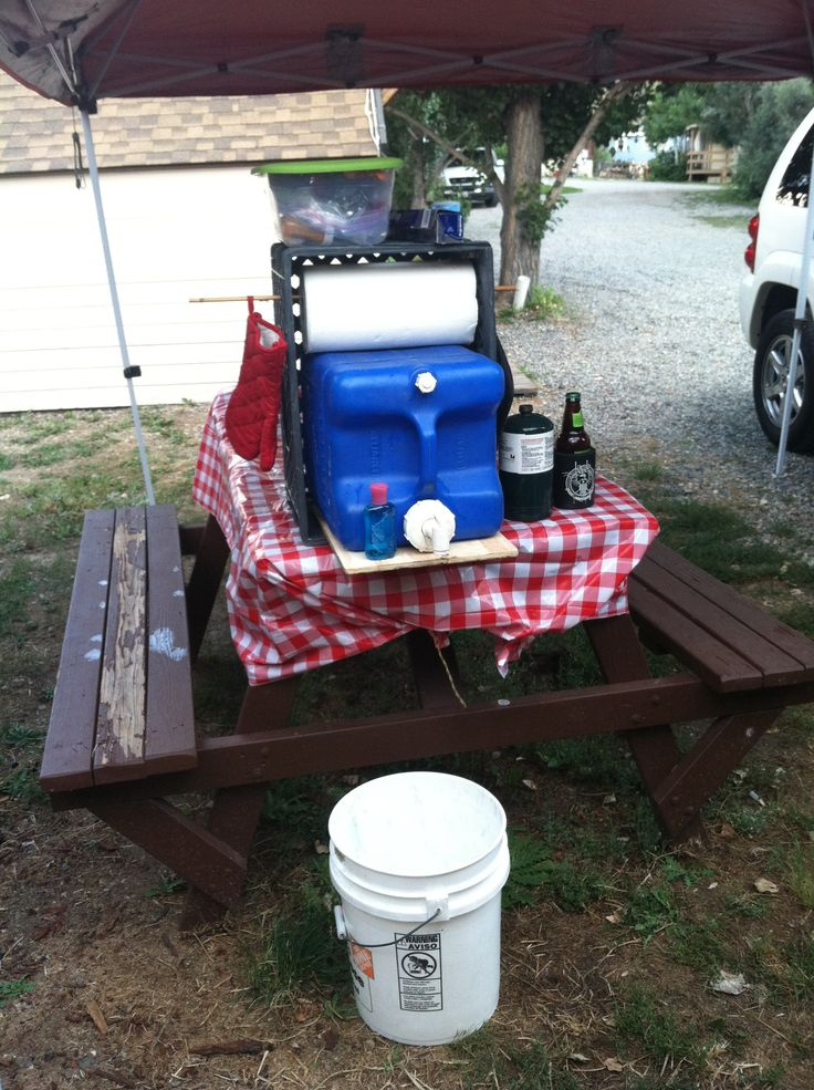 Camp kitchen setup tent camping pinterest for Kitchen setup ideas