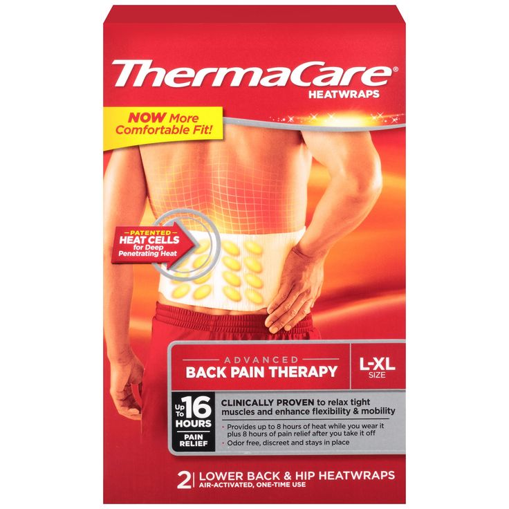 Thermacare L-XL Size Lower Back & Hip Pain Therapy Heatwraps