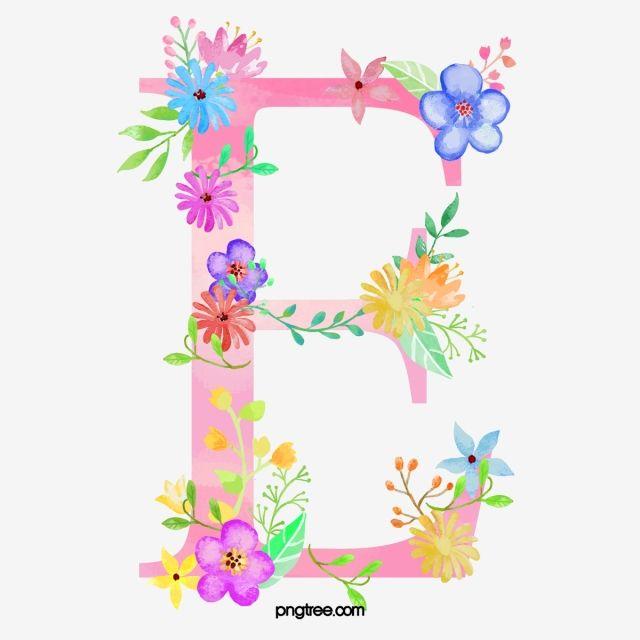 Flowers On The Letter E Letter Clipart Flower Letter Png