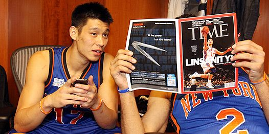 Grabbing the spotlight Jeremy Lin, the NBA's biggest story of the season, gets his All-Star weekend close-up in Orlando.