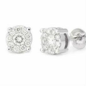 Diamond Halo Studs - Shop our jewellery store in Port Fairy - Victoria, Australia.
