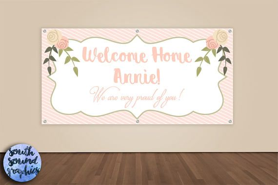 Missionary Banner - Welcome Home Banner - Missionary Homecoming Vinyl Sign - Military Welcome Home Banner - We Missed You Homecoming Sign