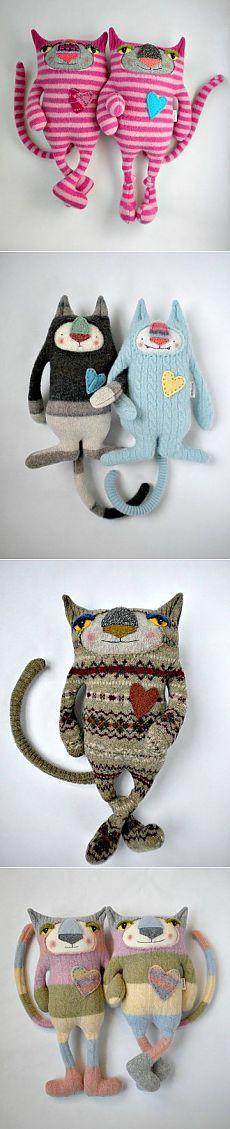 Мягкие игрушки из строго свитера на память!