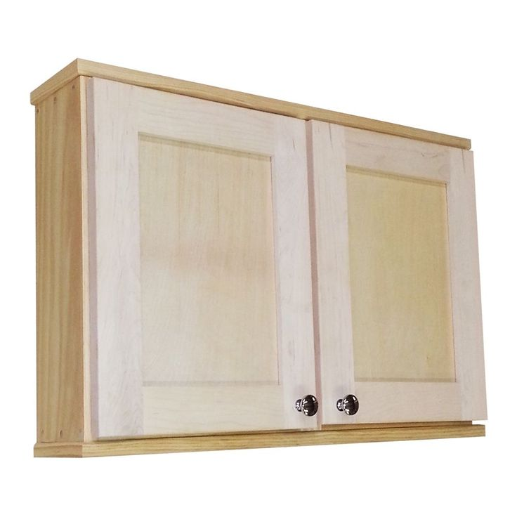 WG Products Shaker Series 18-inch Double Door On-the-Wall Cabinet, Brown