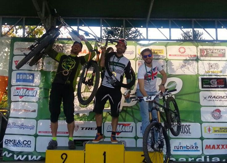 Pistillo ivano and cicli Gussino on the first step of the podium! Tavernerio ECL 2016