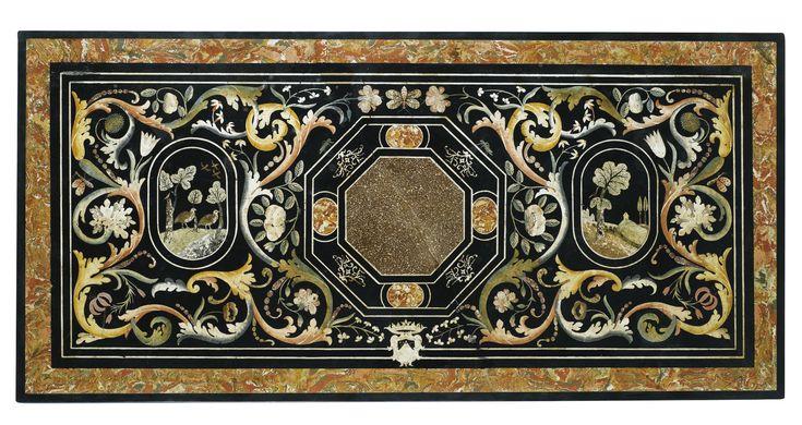 Plateau scagliole italien de la fin du XVIIe - début du XVIIIe siècle   Lot   Sotheby's