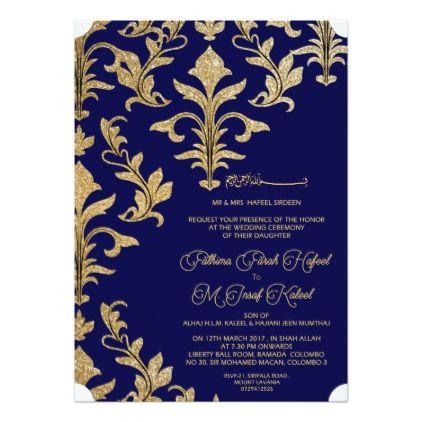 Royal Indian Card - wedding invitations diy cyo special idea personalize card