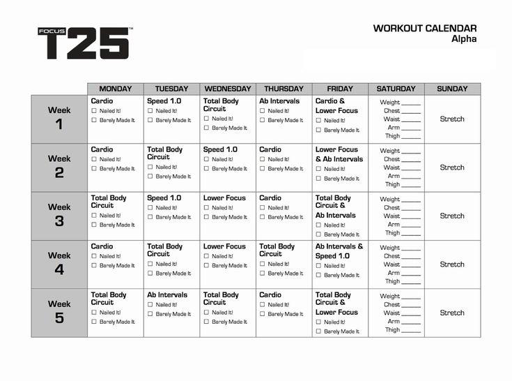T25 Alpha Calendar In 2020