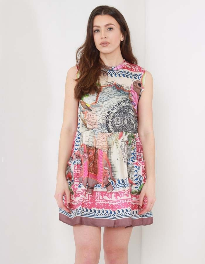 Replay MultiColour Silky Printed Dress | Accent Clothing