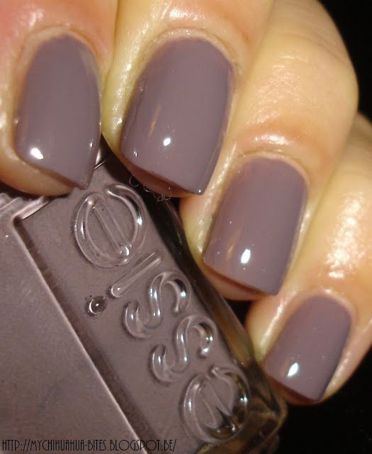 "Essie - ""Merino Cool"". I just painted my nails this color and am obsessed. I'm thinking of adding some gold sparkle accents"