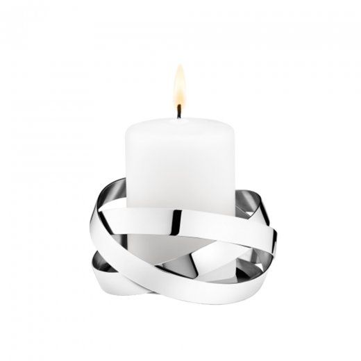 Georg Jensen Ribbons pillar candle holder #orjewellers #georg #jensen #candles