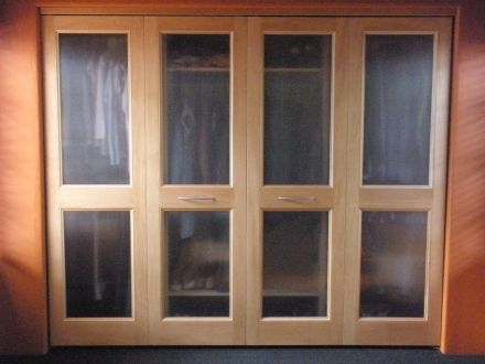 4 Panel Doors (swing Opening), Frosted Glass Panels Shown Kestrel Sliding Closet  Doors