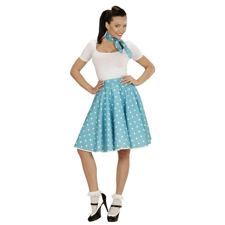 Disfraz de Falda Años 60 Turquesa #disfraces #carnaval