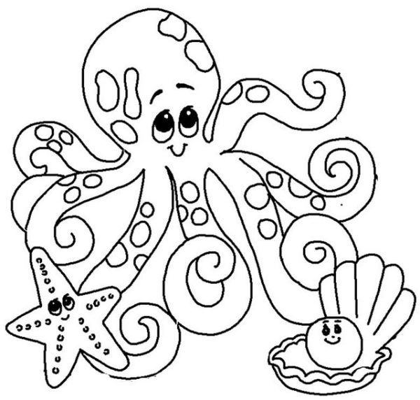Free Octopus Coloring Pages Printable Precious Moments Coloring