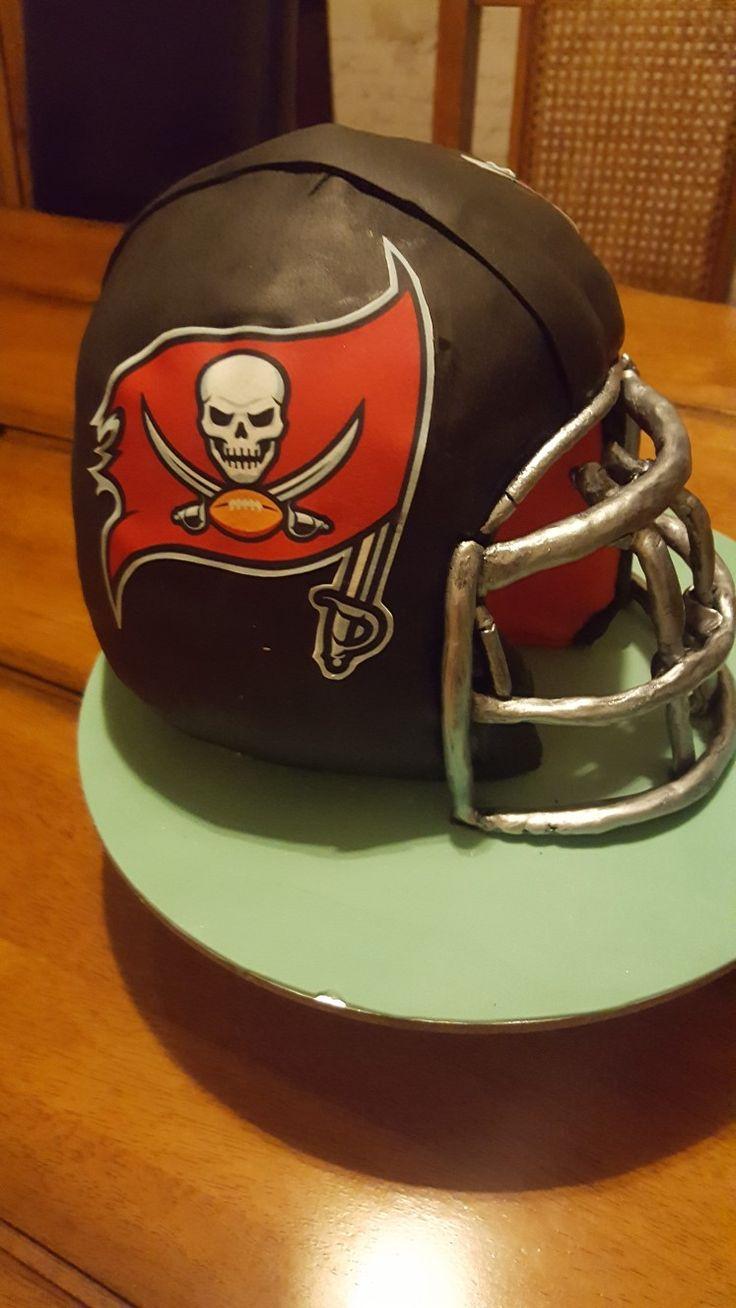 21st birthday American Football Helmet cake