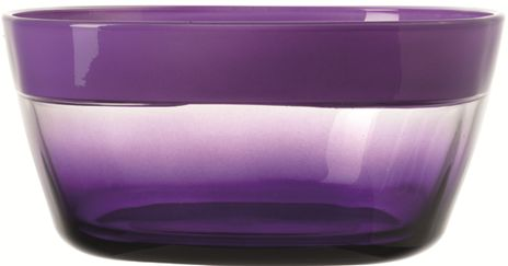 This contemporary decorative bowl comes in a mix of bright, stained dark purple and lilac glass with hues from violet to lavender. The high quality glass bowl would look stunning on a table as a decorative centre piece or filled with candles, dried flowers or fruits.