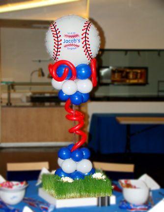 barmitzvah baseball centerpeices - Google Search