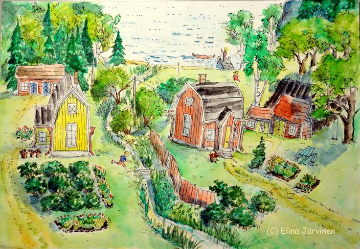 Summer. By Elina Järvinen. I think this is the idyll in every Finn's heart :-)