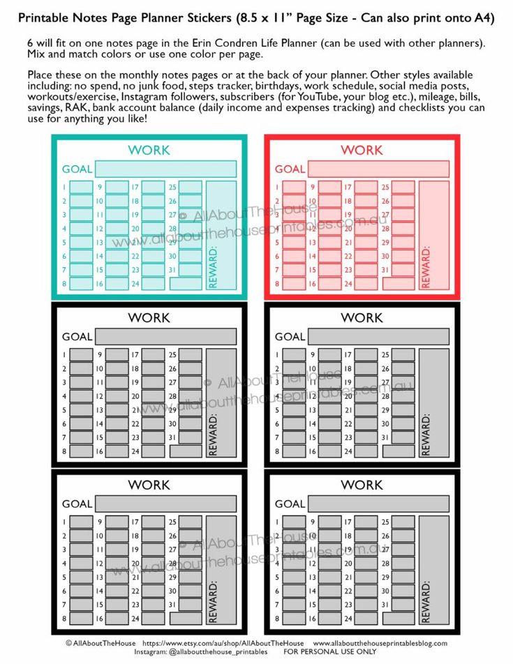work-routine-schedule-tracking-hours-printable-rainbow-planner-sticker-shift-business-client-invoicing-erin-condren-planner-insert-happy-planner-notes-page-min