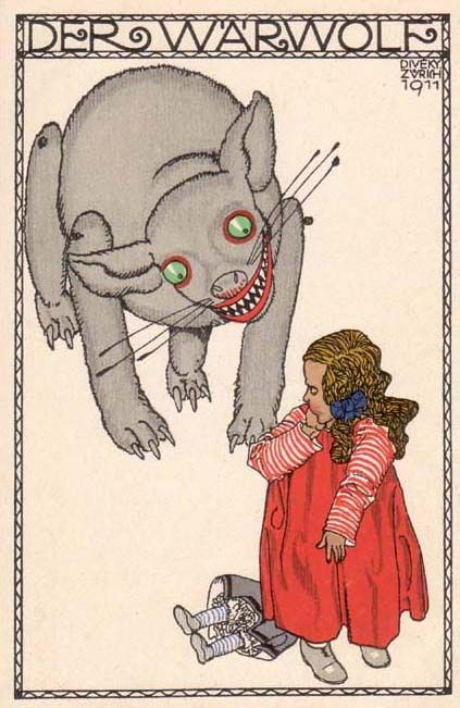 ¤ Wiener Werkstatte postcard : Josef Diveky: