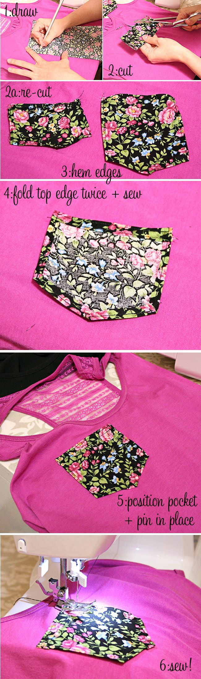 how to :: pocket square tank top upgrade - 6 easy steps !trying this today...hope I know how to sew..