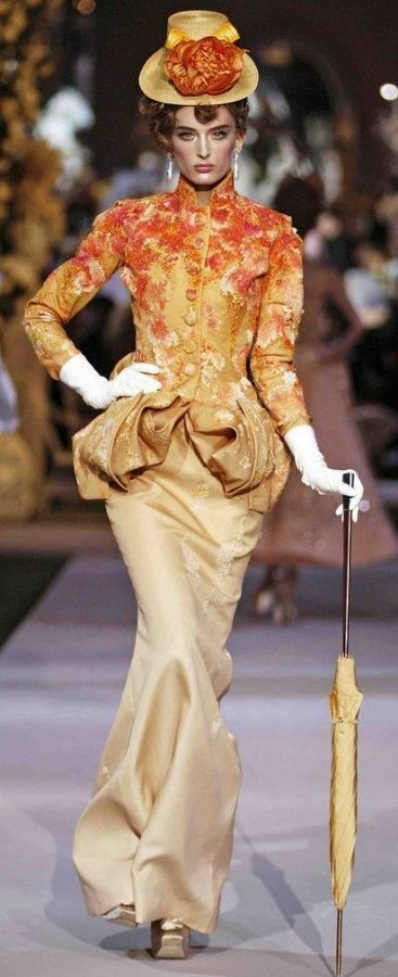 It's the Mary F-ing Poppins of the Upper East Side <3 -- Christian Dior Haute Couture, John Galliano 2007