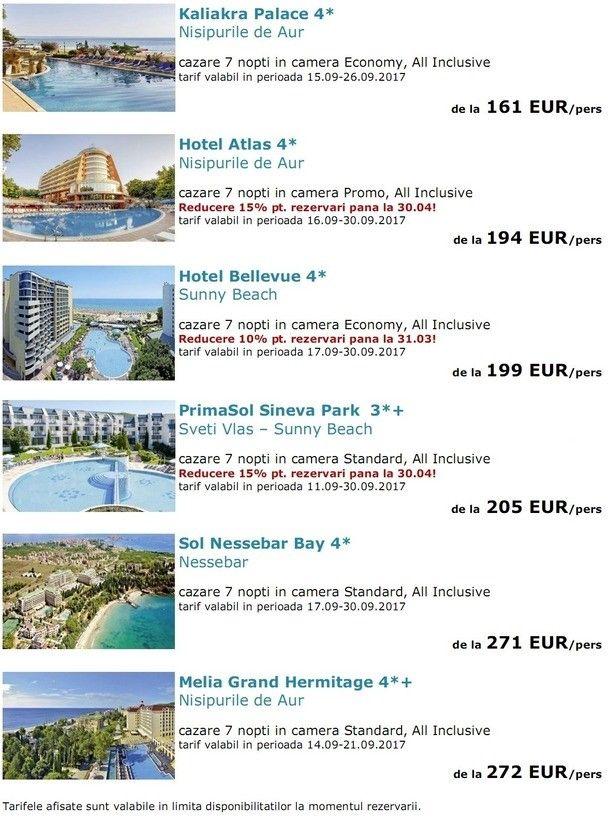 BULGARIA: Hoteluri Top Seller la plaja in cele mai indragite statiuni!
