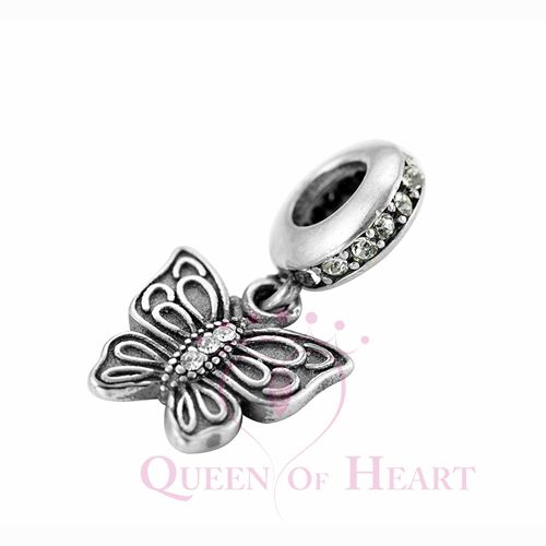 925 sterling silver butterfly dangles for girls