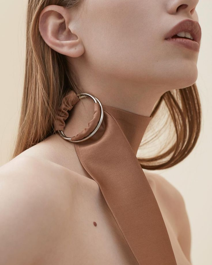 Silk choker #solidstudiowear