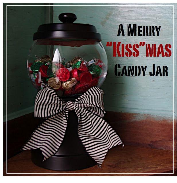 DIY Christmas Candy Jars