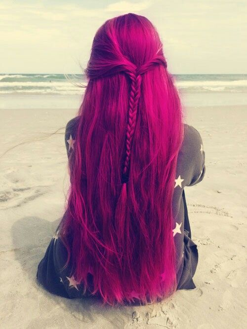 cabello de colores, colorful hair, fuchsia hair, pelo de colores, pelo fucsia… …