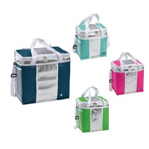 Borsa frigo con interno in alluminio riflettente e isolante per i tuoi giorni in spiaggia o in piscina. Mantiene al fresco bevande e cibi.