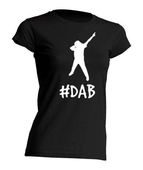 "Koszulka damska bawełniana ""DAB"" - FUNfara - Koszulki z nadrukiem"