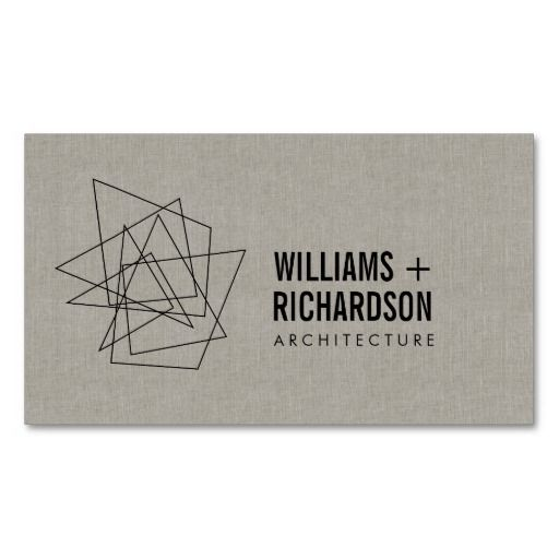 24 best business cards for architects architecture images on abstract geometric architectural logo and business card template for architects engineers builders interior reheart Images