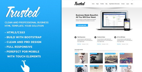 Trusted - Responsive Multi-Purpose HTML5