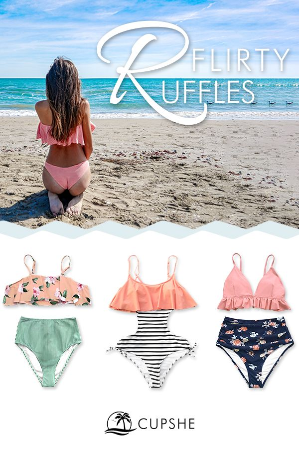 4f90b80e75 What swimsuit happiness looks like. Flirty ruffles in cute colors and fresh  prints. Shop new arrivals!