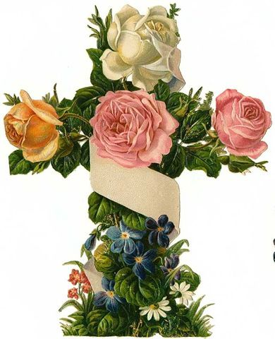 cross: Vintage Clip Art, Crosses Religious Image, Holidays Crafts, Easter Crosses, Vintage Holiday, Vintage Easter, Clipart, Crafts Blog, Pink Rose