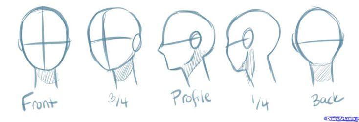 How to Draw Head Angles   how to draw manga heads step 2