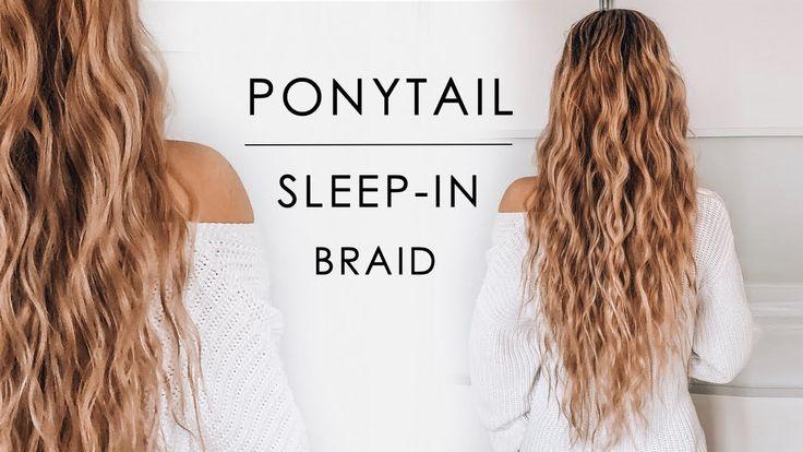 Sleep-in Ponytail Beachy Waves Hair Tutorial | Shonagh Scott – YouTube