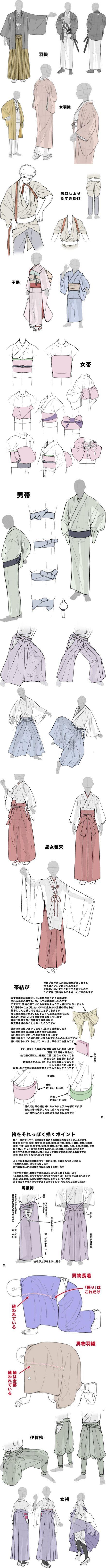 ▼The Kimono Gallery http://thekimonogallery.tumblr.com/post/126997932680/tanuki-kimono-kimono-drawing-guide-22-by