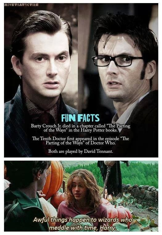 Doctor Who fun fact Harry Potter @Jenny Relaford and @Markee Speyer Speyer Speyer Speyer Speyer Hebden have you two seen this? I feel like it would make you smile ;)