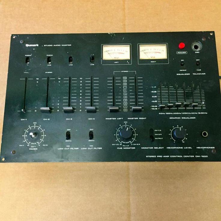 Numark DM-1550 Mixer / Stereo Pre-Amp Control Center - VINTAGE DJ Mixer #numark
