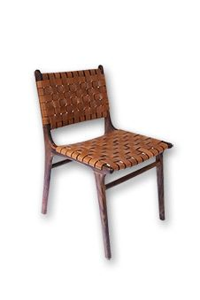 Danish Leather Strapping Chair - Tan