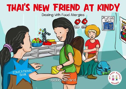 Thai's New Friend At Kindy, Dealing with Food Allergies, My Food Allergy Friends