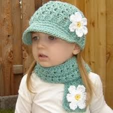 child's crochet hat and scarf set - trendymods.com