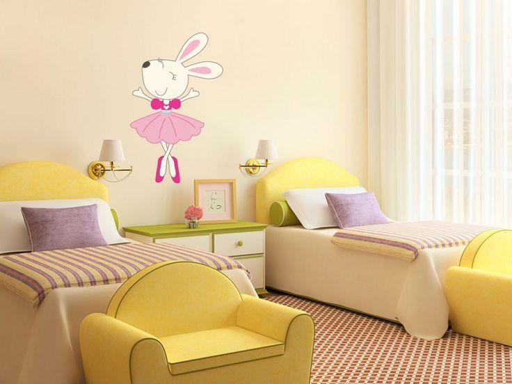 Vinilo adhesivo ratoncilla, Minnie la bailarina, pieza de diseño para los peques, adorno de pared o muebles, decoraciones para habitación de bebé en bimago