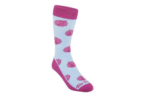 Trinity Leaf Magenta - ToePorn Socks