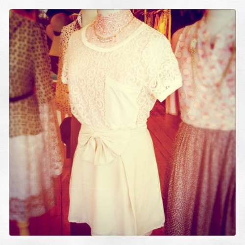 An outfit from one of our window displays: lace on lace love