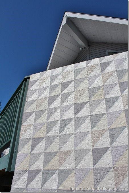 Modern Grey and White Neutrals Quilt