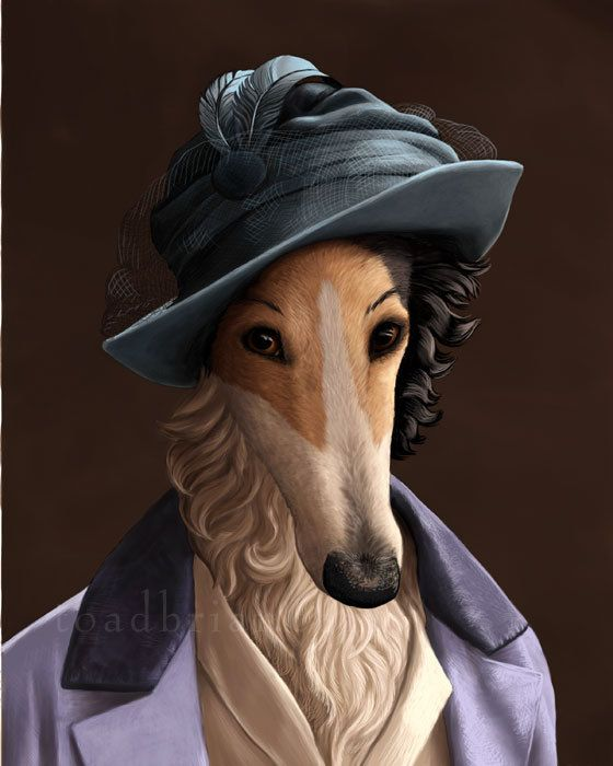 Lady Mary Borzoi Portrait  Downton Abbey  8x10 Signed by toadbriar, $22.00